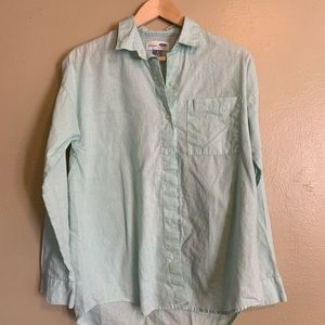 Old Navy | Green Linen Blouse | Small S